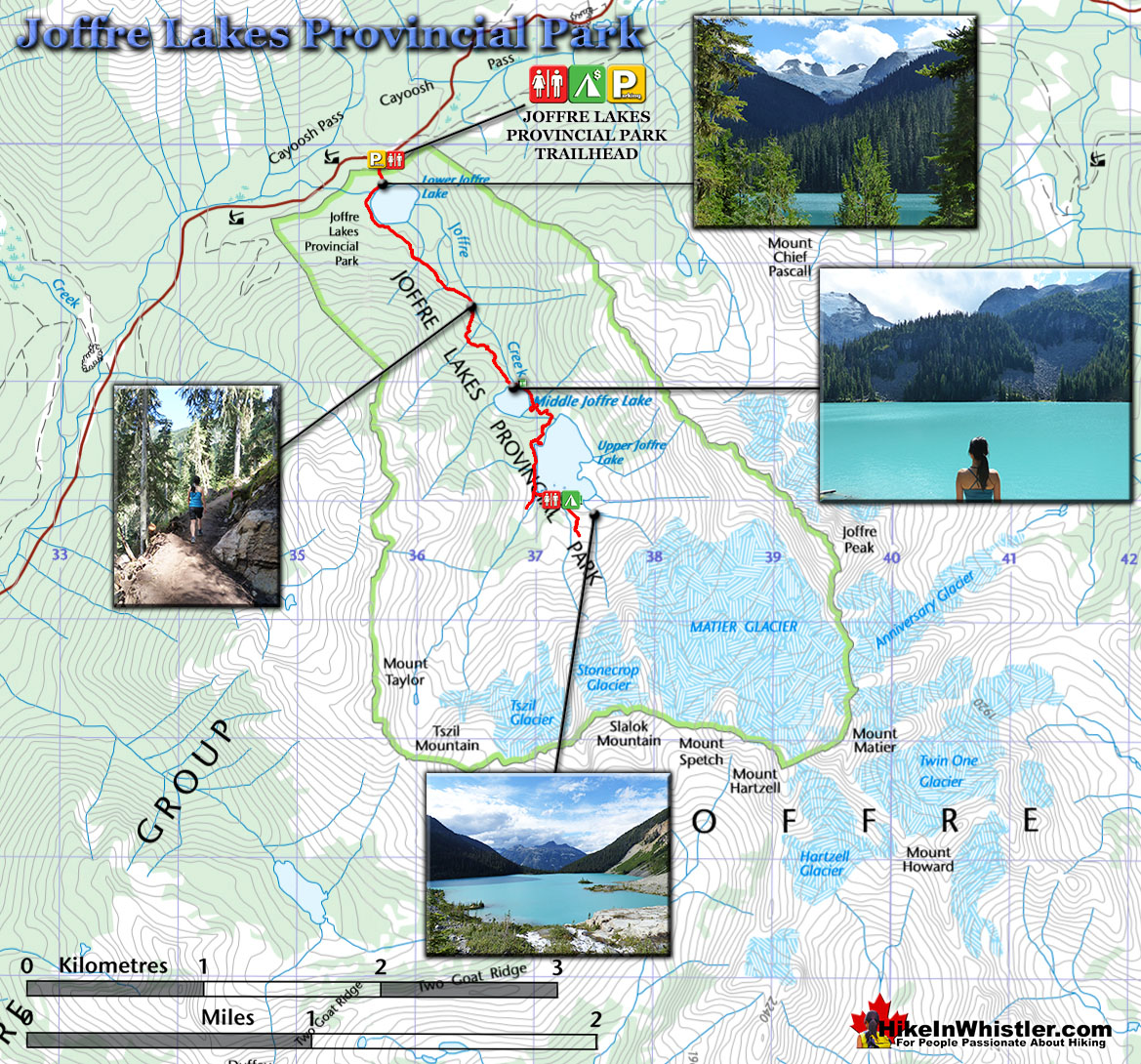 Joffre Lakes Hiking Trail Map