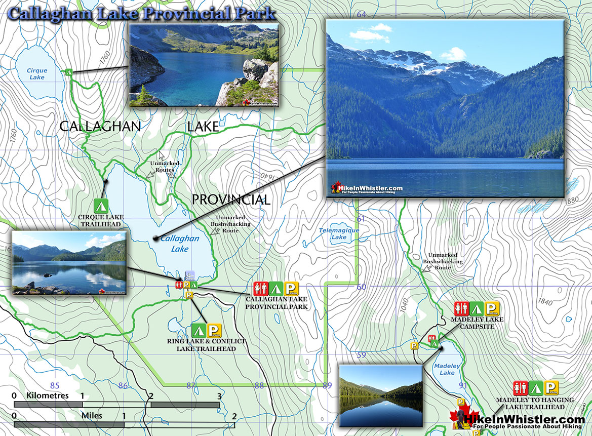 Callaghan Lake Provincial Park Map