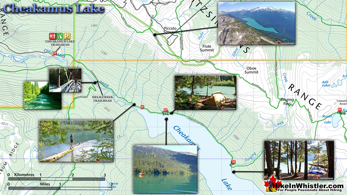 Cheakamus Lake Hiking Trail Map