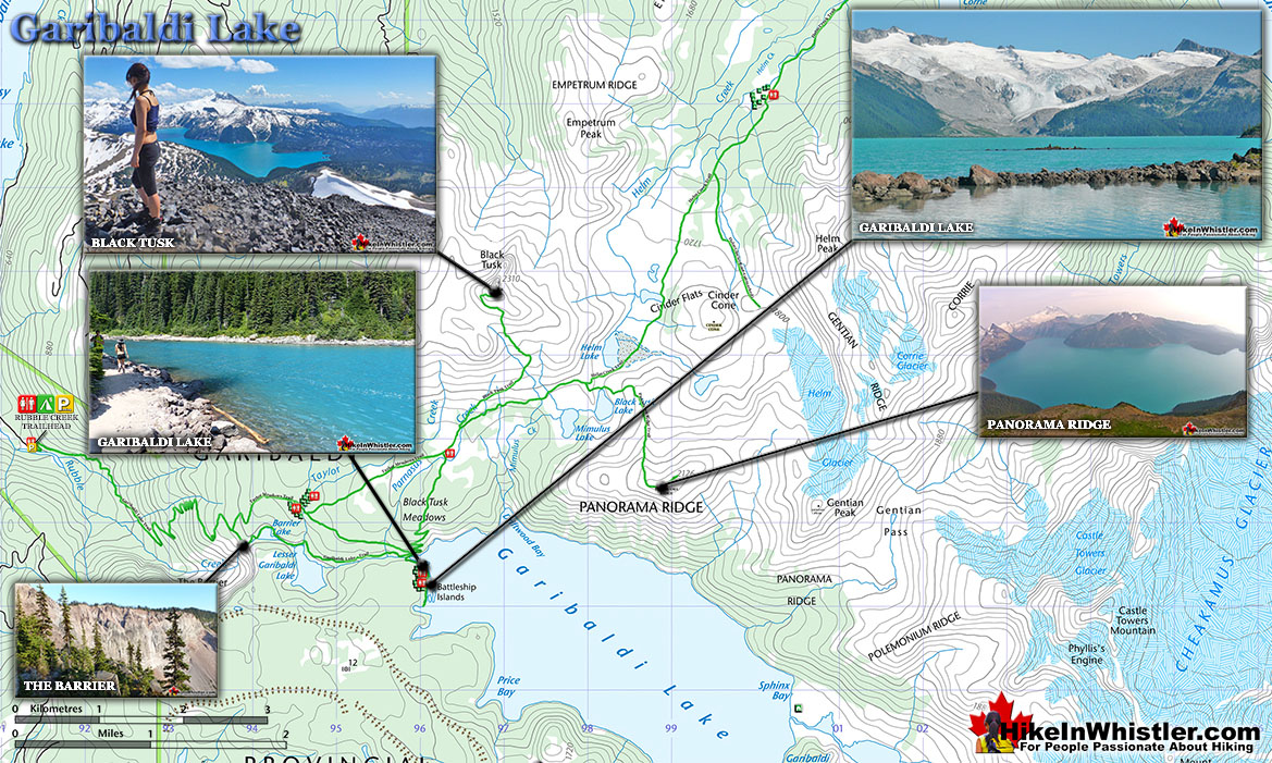 Garibaldi Lake Hiking Map