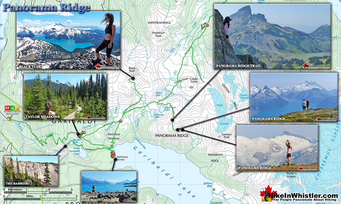 Panorama Ridge Hiking Trail Map