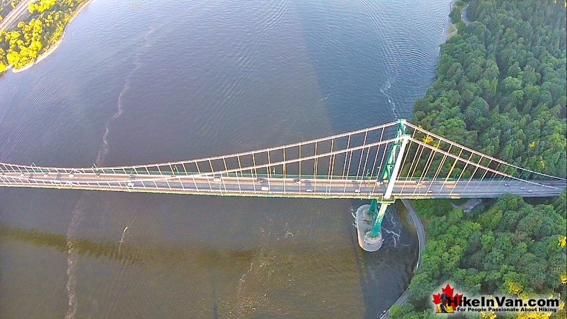 Lions Gate Bridge Aerial View