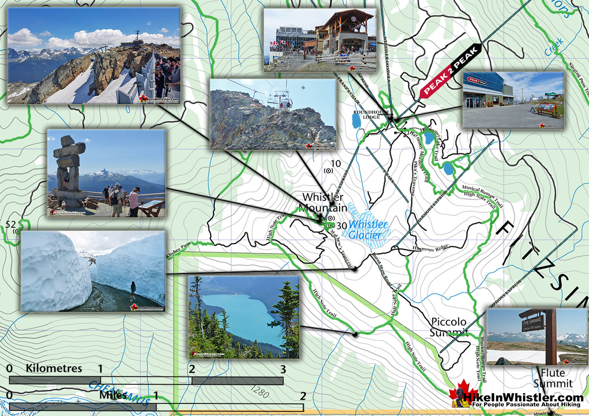 Whistler Mountain Hiking Map